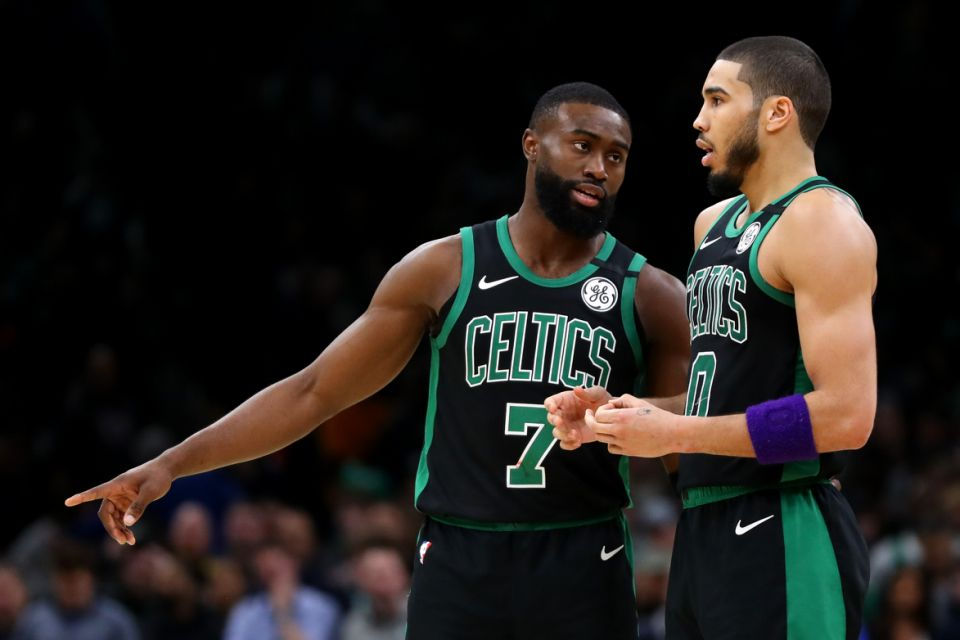 Jaylen Brown and Jayson Tatum can't do it alone on the Celtics.  (Maddie Meyer/Getty Images)