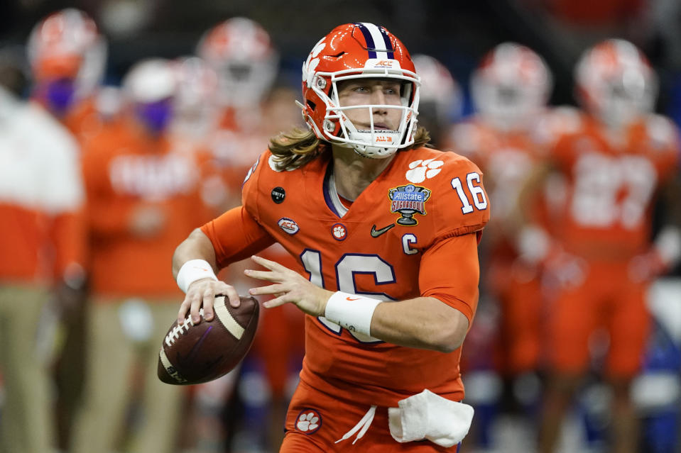 Trevor Lawrence could have a longer leash and more decision-making opportunities in Jacksonville than he had at Clemson. (AP Photo/John Bazemore, File)