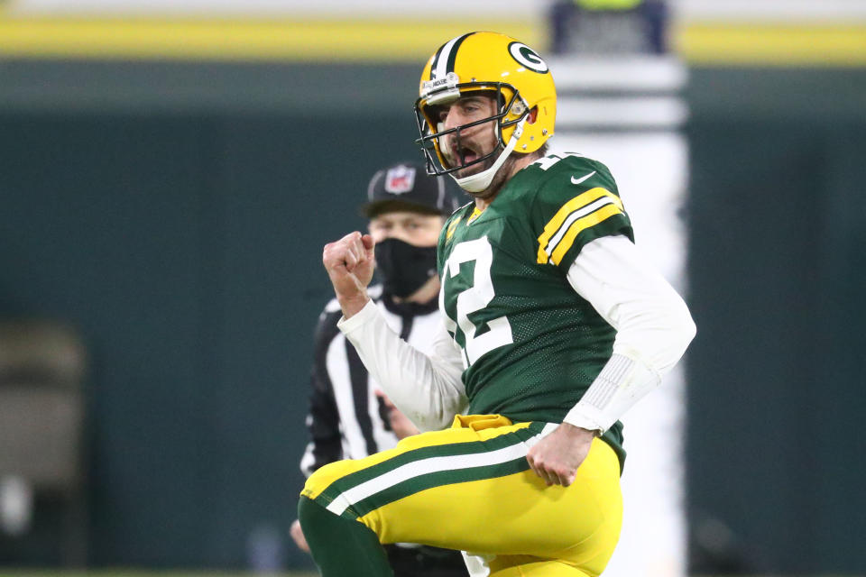 Aaron Rodgers is officially holding out from the Green Bay Packers. (Mark J. Rebilas-USA TODAY Sports)