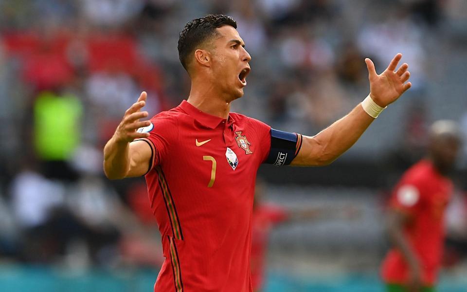 Cristiano Ronaldo looks frustrated - SHUTTERSTOCK