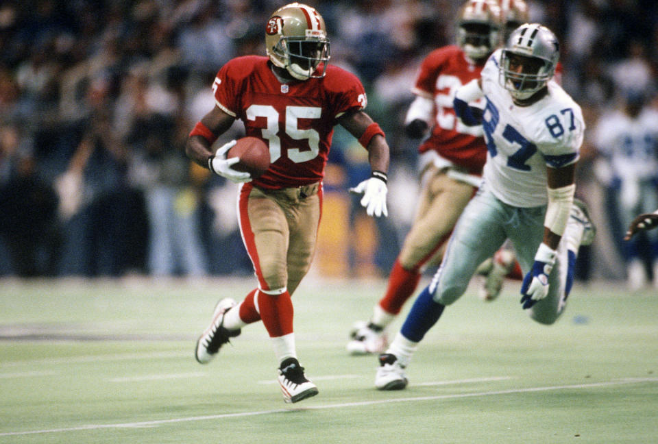 Dexter Carter and the San Francisco 49ers needed each other in 1995. (Photo by Focus on Sport/Getty Images)