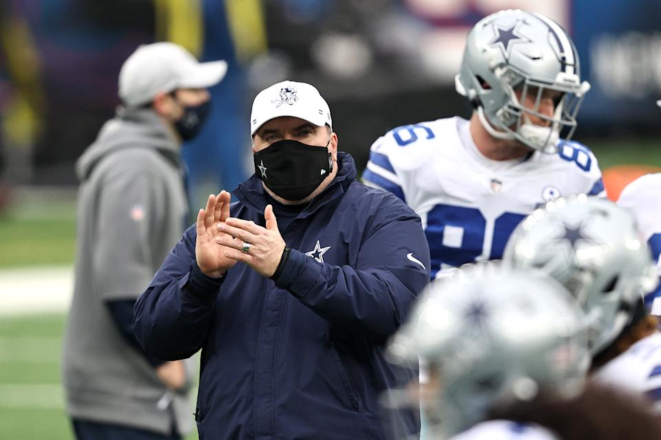 Mike McCarthy is hoping for a better second season with the Cowboys. (Photo by Elsa/Getty Images)