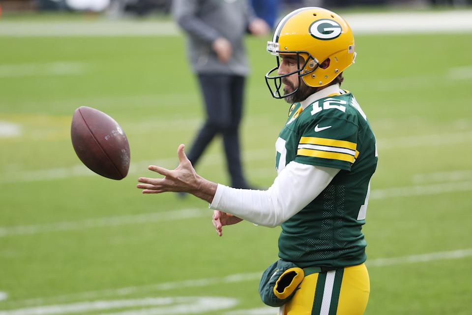 A report said Aaron Rodgers plans to play for the Packers in 2021. (Photo by Dylan Buell/Getty Images)