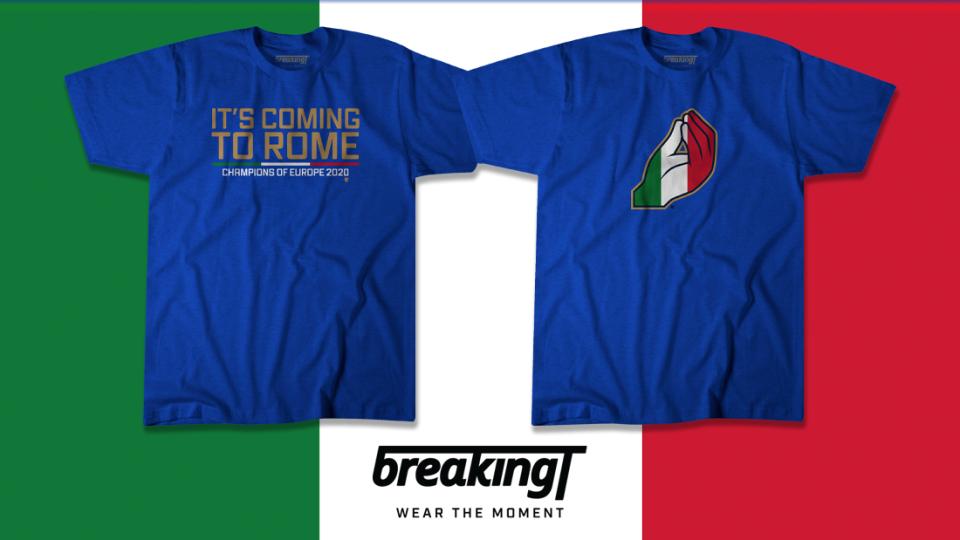 Shop Italian Euro 2020 championships shirts at BreakingT.