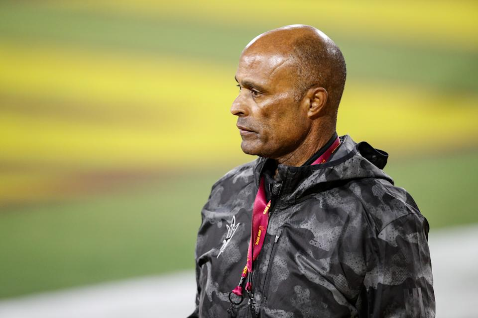 TEMPE, AZ - DECEMBER 05: Arizona State Sun Devils athletic director Ray Anderson during the UCLA Bruins vs Arizona State Sun Devils football game on Saturday December 5, 2020 at Sun Devil Stadium in Tempe, AZ. (Photo by Jevone Moore/Icon Sportswire via Getty Images)