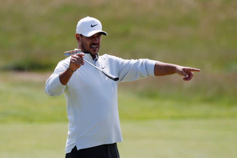 Golf-Ahead of Open Koepka-DeChambeau beef rumbles on