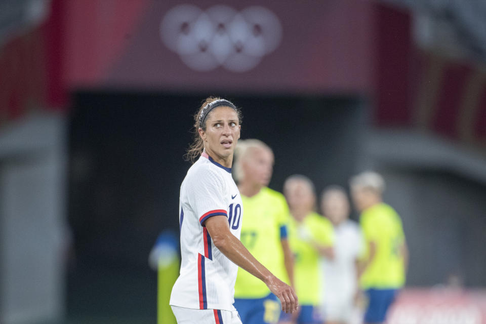 Carli Lloyd and the USWNT were so-so during the group stage at the Olympics, but the gold medal is still very much in their sights. (Photo by Tim Clayton/Corbis via Getty Images)