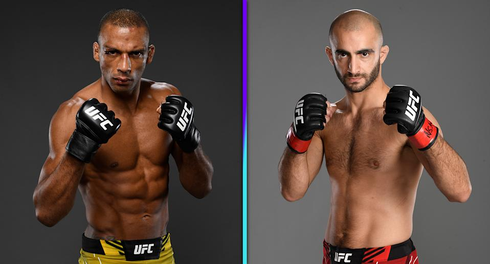Edson Barboza (22-9) vs. Giga Chikadze (13-2) headlines Saturday's UFC Vegas 35 at Apex. (Photos via Getty Images)