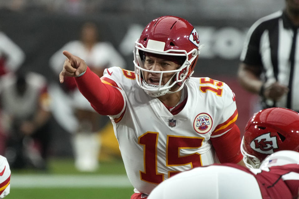 Kansas City Chiefs quarterback Patrick Mahomes is the NFL MVP favorite. (AP Photo/Rick Scuteri)