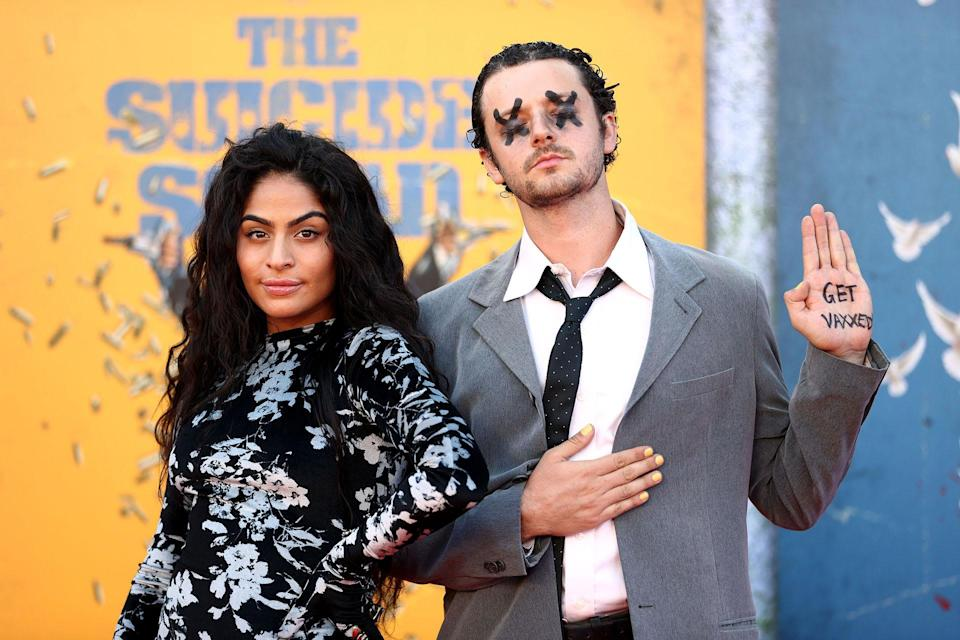 Jessie Reyez and Grandson at the premiere of 'The Suicide Squad'