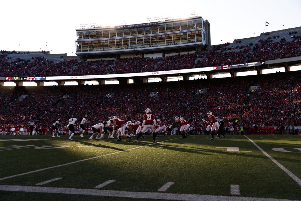 LOOK: For the first time in over a year, Wisconsin fans were back at Camp Randall