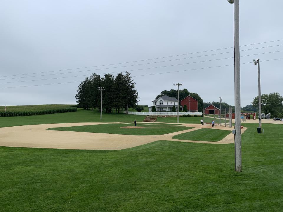 The original Field of Dreams, cut into a corn field in Dyersville, Iowa. (Yahoo Sports)