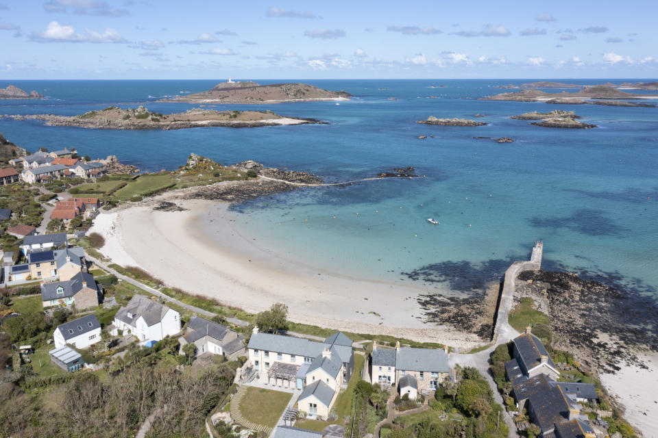TRESCO, ISLES OF SCILLY, ENGLAND - APRIL 08: New Grimsby, Tresco, Isles Of Scilly on April 8, 2021. (Photo by Chris Gorman/Getty Images)