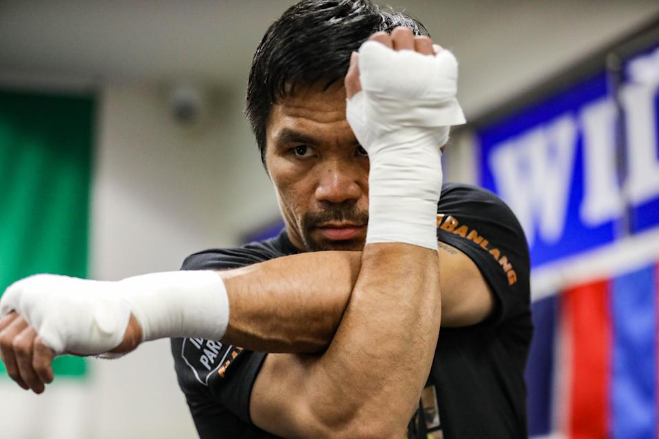 LOS ANGELES, CALIFORNIA - AUGUST 13: Eight-division world boxing champion and Philippine Senator Manny