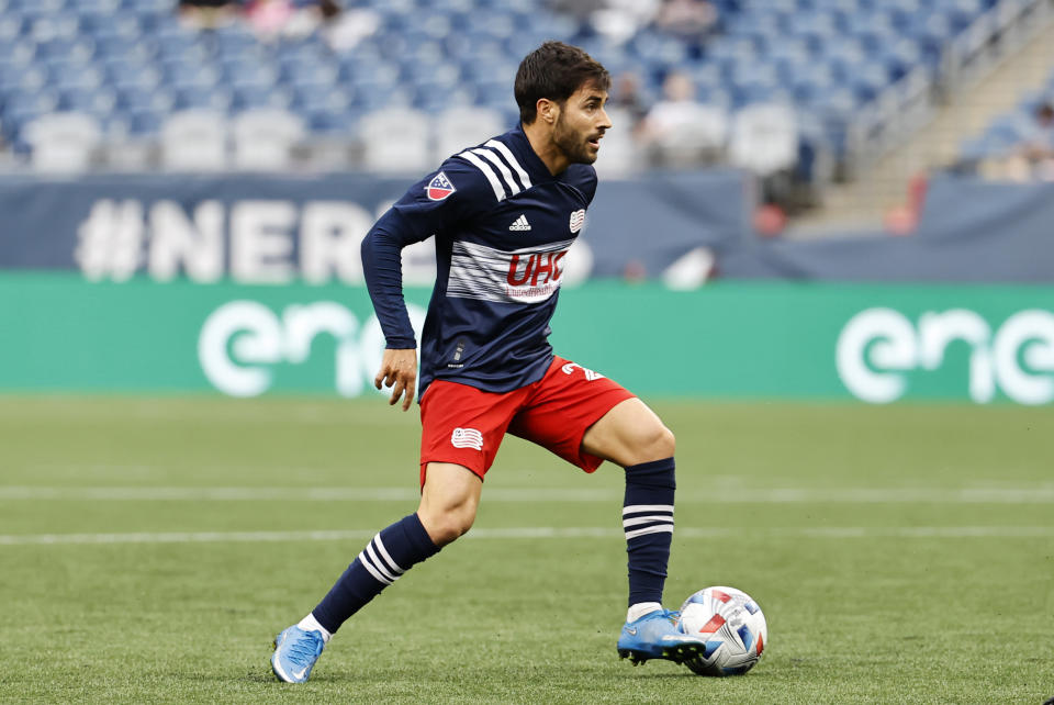 Carles Gil has been in MVP-level form for the Revs this season. (Photo by Fred Kfoury III/Icon Sportswire via Getty Images)