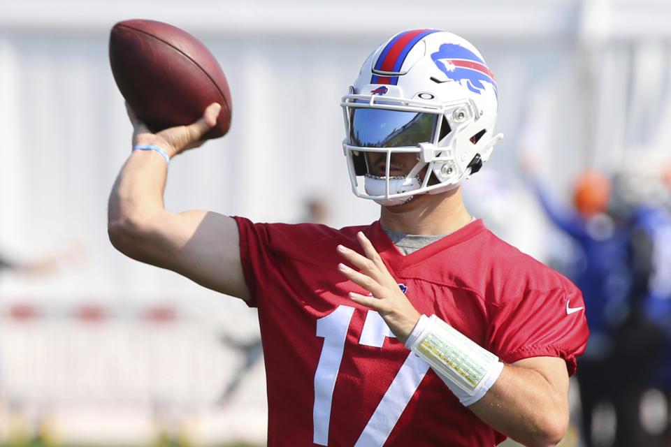 Buffalo Bills quarterback Josh Allen had a breakthrough 2021 season. (AP/ Photo Jeffrey T. Barnes)