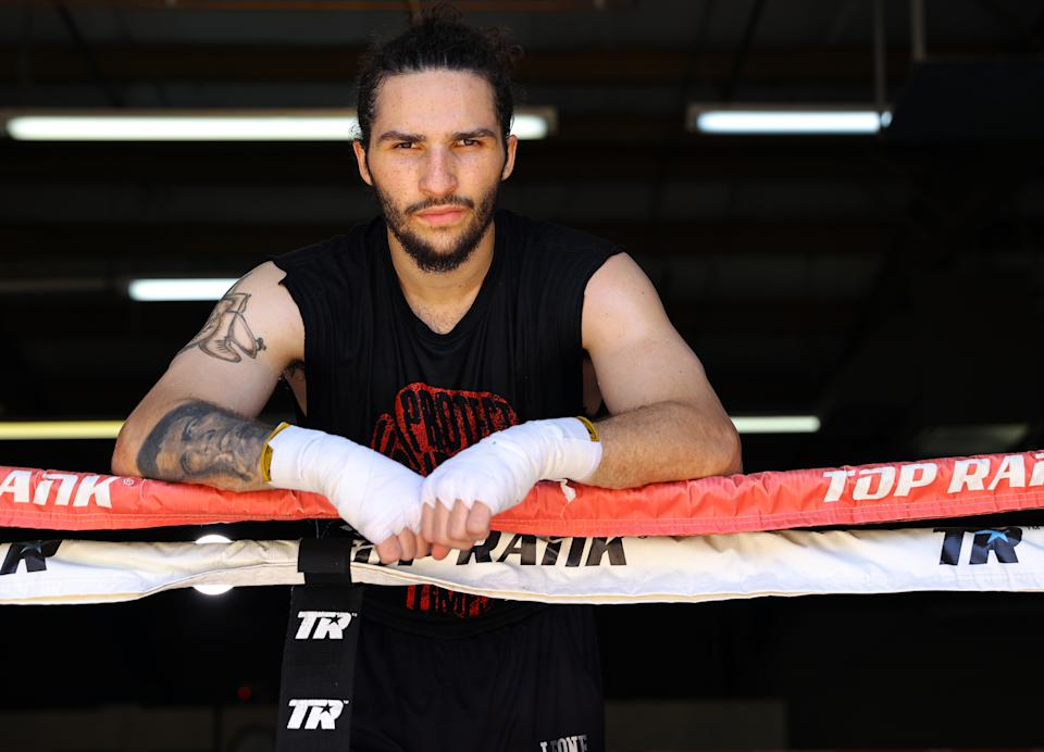 LAS VEGAS, NEVADA - AUGUST 3 : Middleweight prospect Nico Ali Walsh, grandson of