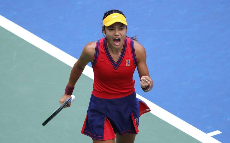 Emma Raducanu in the US Open final - Emma Raducanu wanted to front campaign to make tennis courts free for all children - AFP