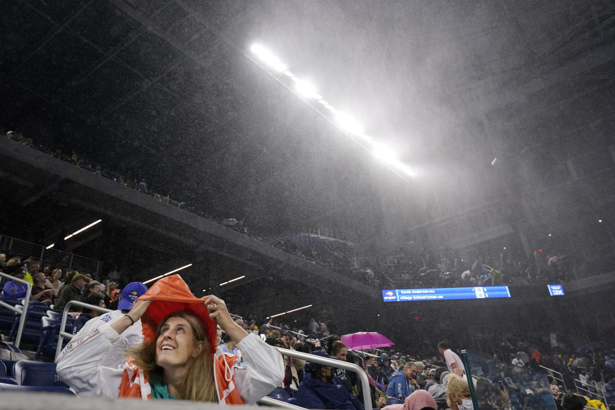 Remnants of Hurricane Ida hit US Open, creating some chaos