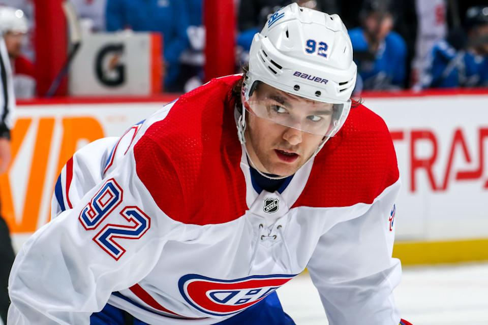 Montreal Canadiens forward Jonathan Drouin opened up about why he abruptly stepped away from the sport in the middle of last season. (Getty)