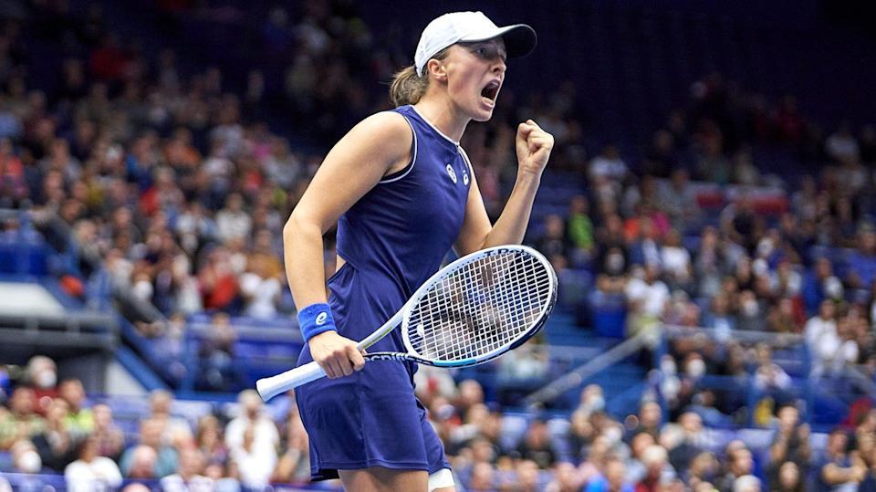 Swiatek, Kvitova, Sakkari, Kontaveit in Ostrava Open semis