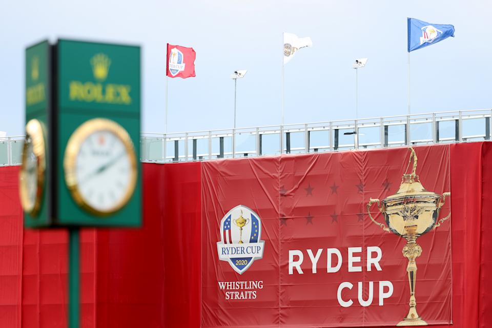 KOHLER, WISCONSIN - SEPTEMBER 23: A general view of a Rolex clock during practice rounds prior to the 43rd Ryder Cup at Whistling Straits on September 23, 2021 in Kohler, Wisconsin. (Photo by Warren Little/Getty Images)