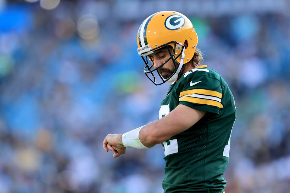 Packers quarterback Aaron Rodgers had time for his critics Tuesday. (Photo by Sam Greenwood/Getty Images)