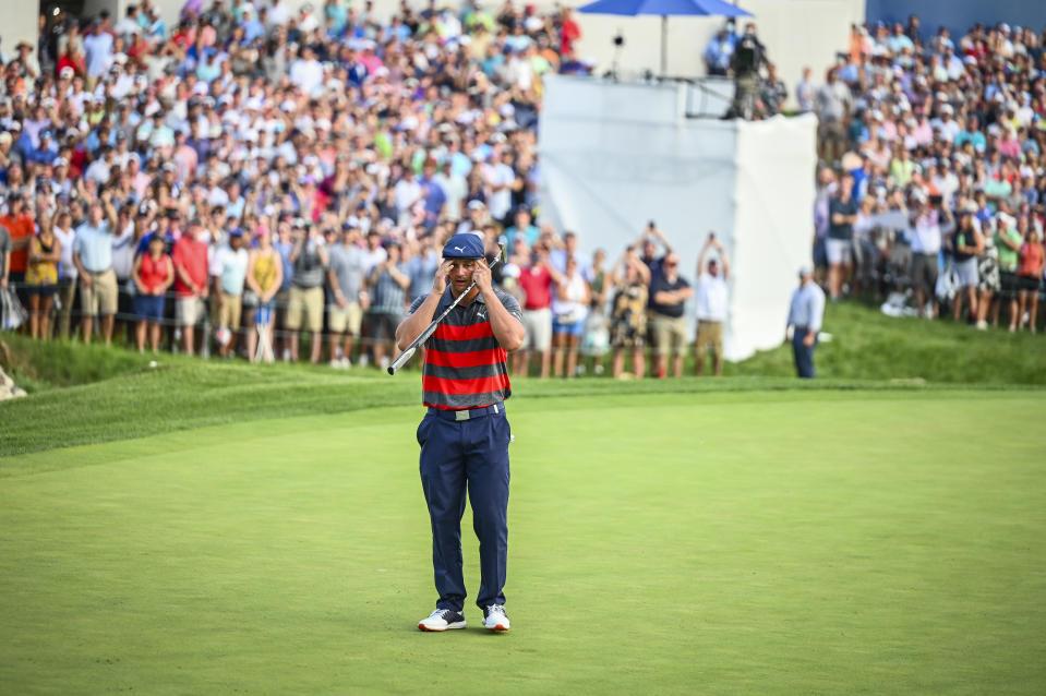 Bryson DeChambeau has a whole lot of eyes on him these days. (Keyur Khamar/PGA TOUR via Getty Images)