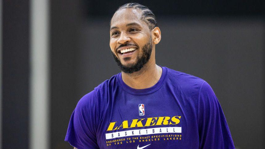 """Carmelo Anthony on wearing Lakers' colors: """"I think it'll be fun. I'm really going to enjoy it."""""""