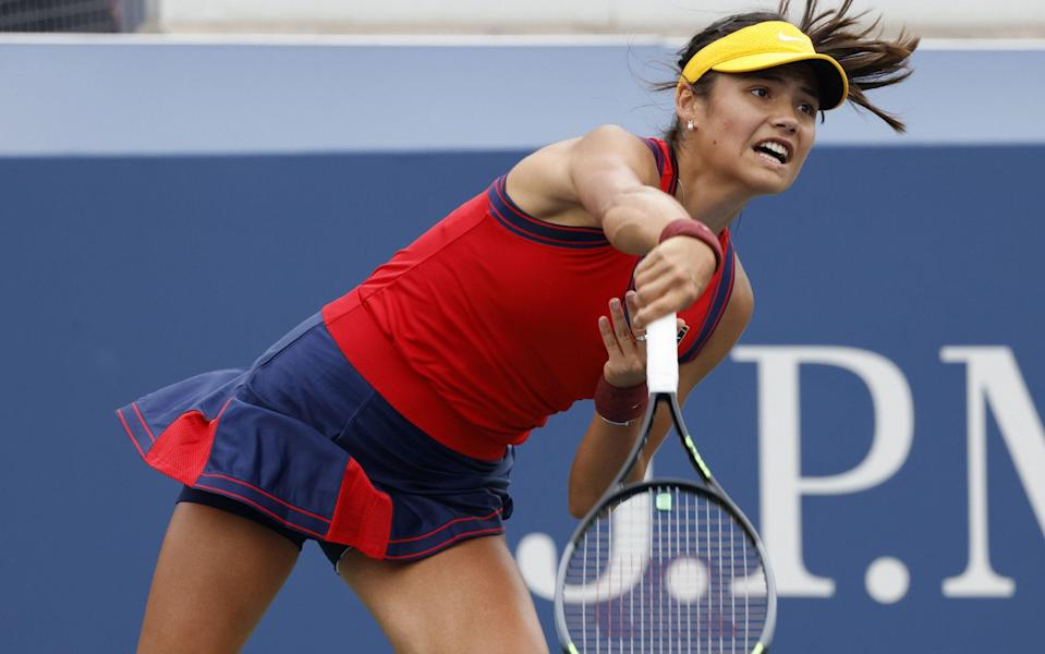 Emma Raducanu is bidding to reach the third round of the US Open - Shutterstock