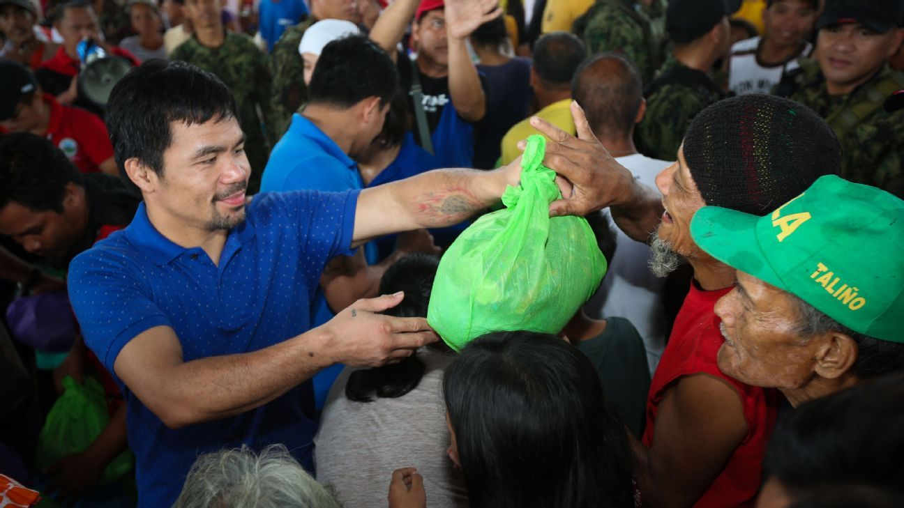 Pacquiao launches bid for Philippine presidency
