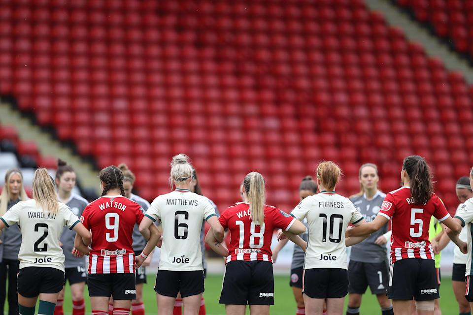 Players from Liverpool women's team and Sheffield United.