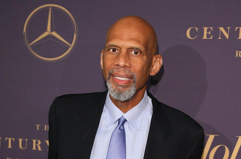 NBA Hall of Famer Kareem Abdul-Jabbar has been outspoken in his advocacy for the COVID-19 vaccine. (JEAN-BAPTISTE LACROIX/AFP via Getty Images)
