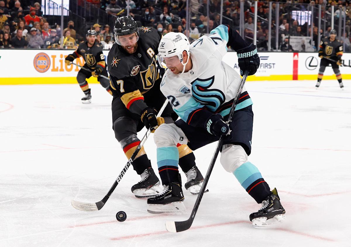 Kraken welcomed to NHL with wild night in Vegas