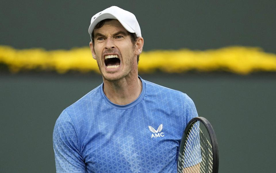 Andy Murray was furious with himself during this hard-fought tussle - RAY ACEVEDO/EPA-EFE/Shutterstock